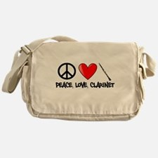 Peace, Love, Clarinet Messenger Bag