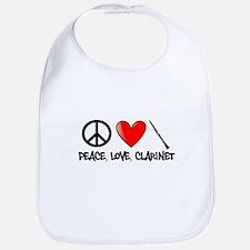Peace, Love, Clarinet Bib