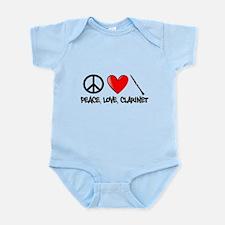 Peace, Love, Clarinet Body Suit