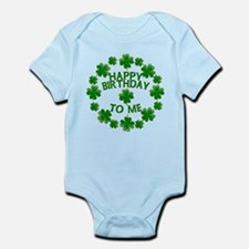 Shamrocks Happy Birthday to Me Infant Bodysuit