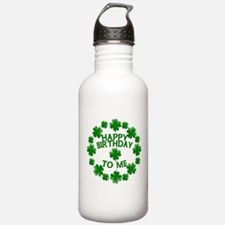 Shamrocks Happy Birthday to Me Water Bottle