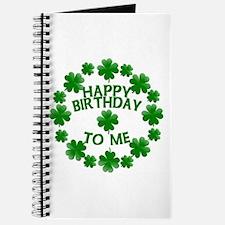 Shamrocks Happy Birthday to Me Journal