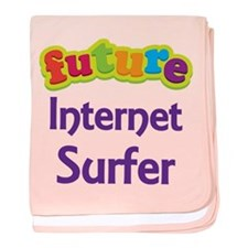 Future Internet Surfer baby blanket