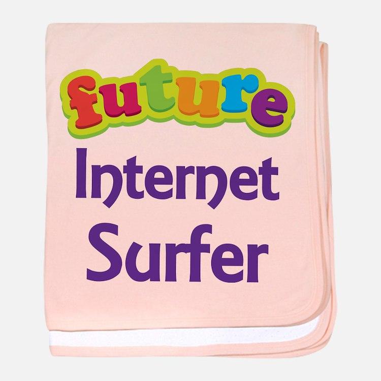 Future Internet Surfer baby blanket