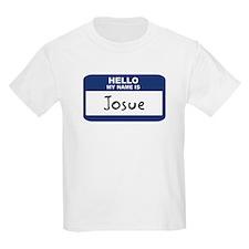 Hello: Josue Kids T-Shirt