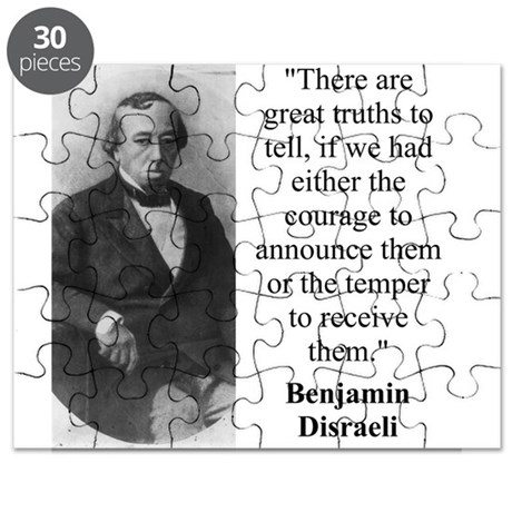 There Are Great Truths To Tell - Disraeli Puzzle