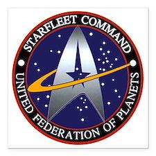 "Starfleet Command Logo Square Car Magnet 3"" x 3"""