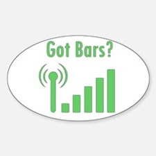 Got Bars? Sticker (Oval)