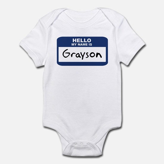 Hello: Grayson Infant Bodysuit