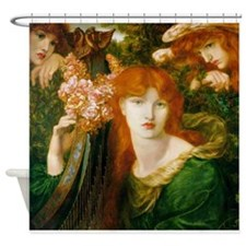 Ghirlandata by Rossetti Shower Curtain