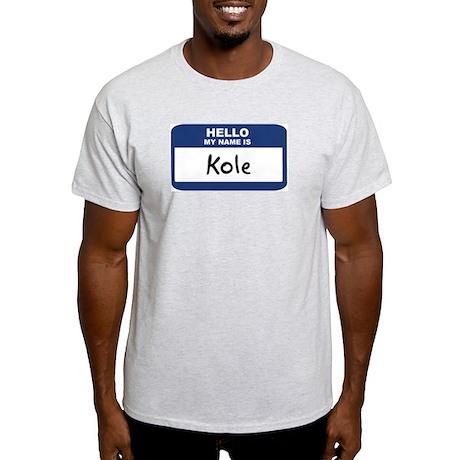 Hello: Kole Ash Grey T-Shirt