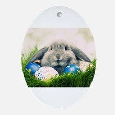 bunny and eggs Ornament (Oval)