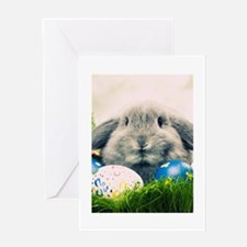 bunny and eggs Greeting Card