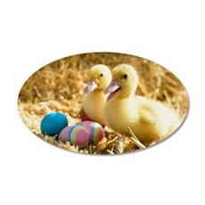 baby ducks and eggs Wall Decal