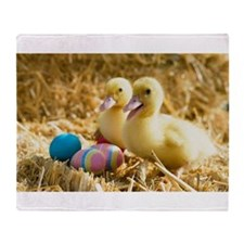 baby ducks and eggs Throw Blanket
