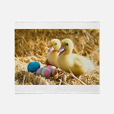 baby ducks and eggs Throw Blanket