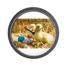 baby ducks and eggs Wall Clock