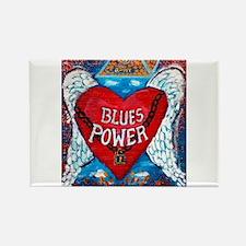 Blues Power Rectangle Magnet
