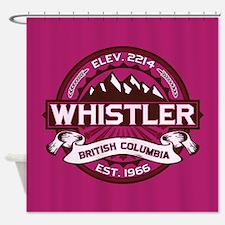 Whistler Raspberry Shower Curtain