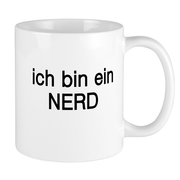 ich bin ein nerd mug by terriblyfunnytees. Black Bedroom Furniture Sets. Home Design Ideas