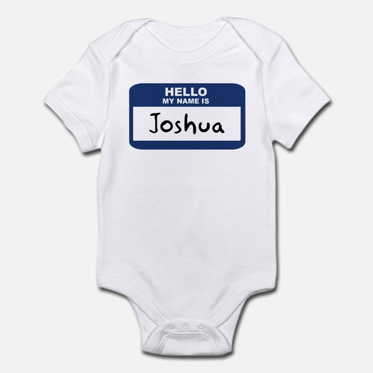 Hello: Joshua Infant Bodysuit