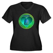 I Love Tut Women's Plus Size V-Neck Dark T-Shirt