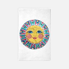 Sun face - Spring 3'x5' Area Rug