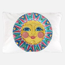Sun face - Spring Pillow Case