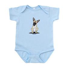 Curious German Shepherd Infant Bodysuit
