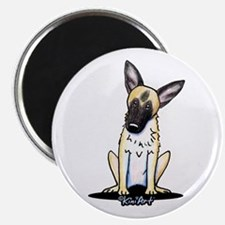Curious German Shepherd Magnet
