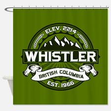 Whistler Olive Shower Curtain