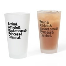 Breakfast Club Ampersand Drinking Glass