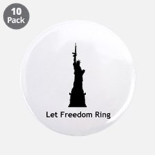 "Miss Liberty 3.5"" Button (10 pack)"