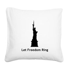 Miss Liberty Square Canvas Pillow