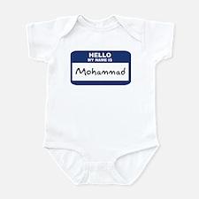 Hello: Mohammad Infant Bodysuit