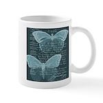 French Butterflies Teal Mug