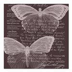 French Butterflies Brown Square Car Magnet 3