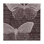 French Butterflies Brown Tile Coaster