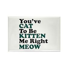 Kitten Meow Funny Rectangle Magnet