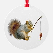Fishing Squirrel Ornament