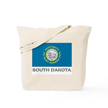 South Dakota Flag Gear Tote Bag