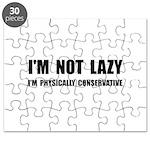 Lazy Conservative Puzzle