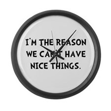 Nice Things Large Wall Clock