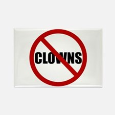 No Clowns Rectangle Magnet (10 pack)