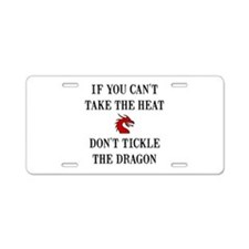 Tickle The Dragon Aluminum License Plate