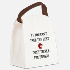Tickle The Dragon Canvas Lunch Bag