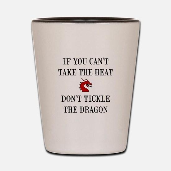 Tickle The Dragon Shot Glass