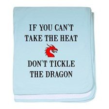 Tickle The Dragon baby blanket