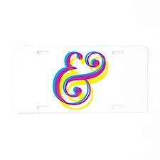 CMY Ampersand Aluminum License Plate