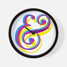 CMY Ampersand Wall Clock
